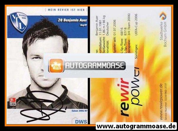 Autogramm Fussball   VfL Bochum   2006   Benjamin AUER