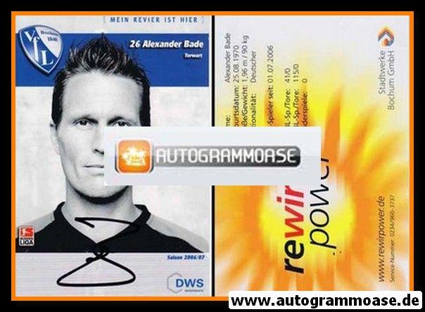 Autogramm Fussball | VfL Bochum | 2006 | Alexander BADE