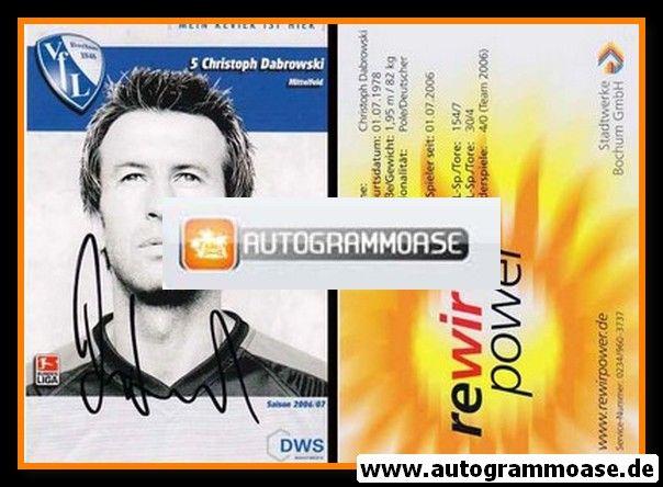 Autogramm Fussball | VfL Bochum | 2006 | Christoph DABROWSKI