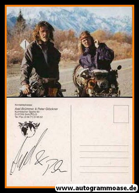 Autogramm Fotografie | Axel BRÜMMER + Peter GLÖCKNER | 1990er (Weltreise)