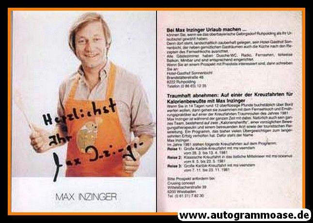 Autogramm Koch | Max INZINGER | 1981 (Portrait Color)