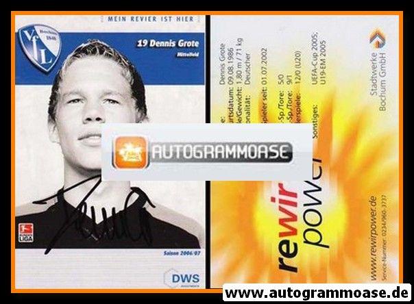 Autogramm Fussball   VfL Bochum   2006   Dennis GROTE
