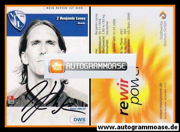 Autogramm Fussball | VfL Bochum | 2006 | Benjamin LENSE
