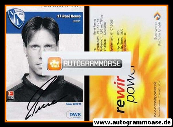 Autogramm Fussball | VfL Bochum | 2006 | Rene RENNO