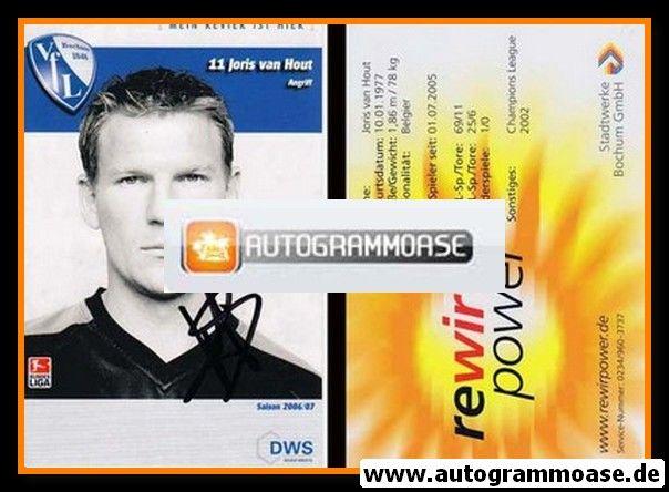 Autogramm Fussball   VfL Bochum   2006   Joris VAN HOUT