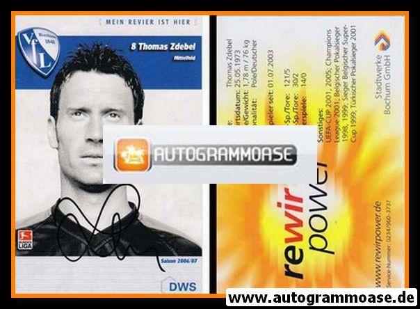 Autogramm Fussball | VfL Bochum | 2006 | Thomas ZDEBEL