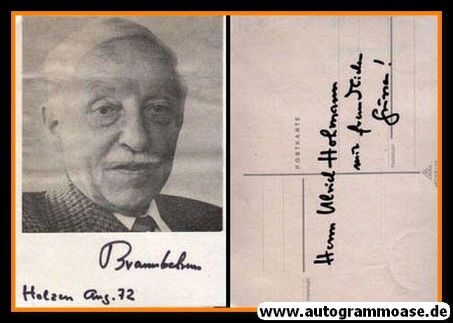 Autogramm | ??? Brannbelram | 1970er (Portrait SW) 2021-00026