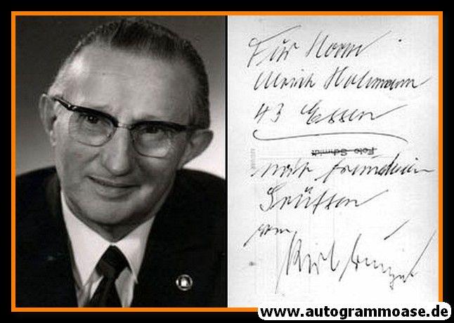 Autogramm | ??? Karl Grunyak | 1970er (Portrait SW) 2021-00028