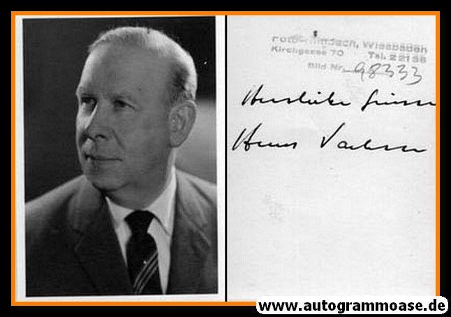 Autogramm | ??? Hans Vachin | 1970er (Portrait SW) 2021-00029