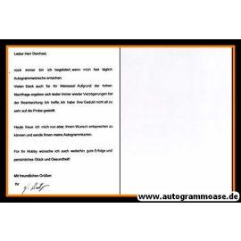 Autogramm Fussball | DDR | 1970er | UNBEKANNT (Portrait SW) + Brief