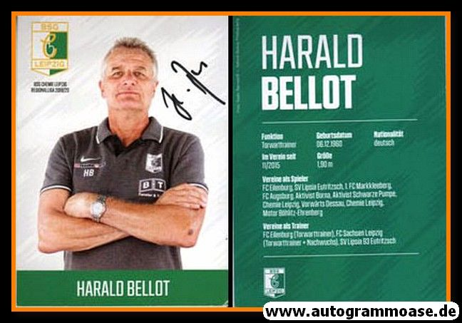 Autogramm Fussball | BSG Chemie Leipzig | 2019 | Harald BELLOT