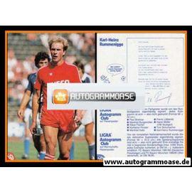 Autogramm Fussball | FC Bayern München | 1981 Ligra | Karl-Heinz RUMMENIGGE