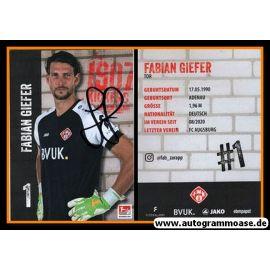 Autogramm Fussball | Würzburger Kickers | 2020 | Fabian GIEFER