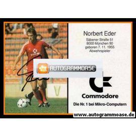 Autogramm Fussball | FC Bayern München | 1986 | Norbert EDER