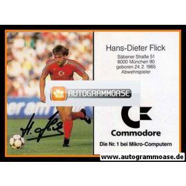 Autogramm Fussball   FC Bayern München   1986   Hans-Dieter FLICK