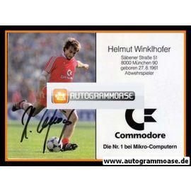 Autogramm Fussball | FC Bayern München | 1986 | Helmut WINKLHOFER