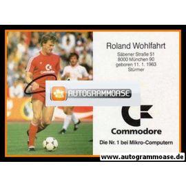 Autogramm Fussball   FC Bayern München   1986   Roland WOHLFARTH