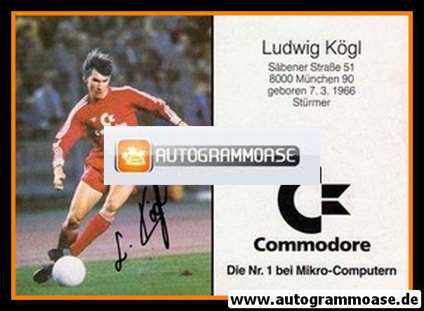 Autogramm Fussball | FC Bayern München | 1988 | Ludwig KÖGL