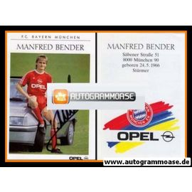 Autogramm Fussball | FC Bayern München | 1989 | Manfred BENDER