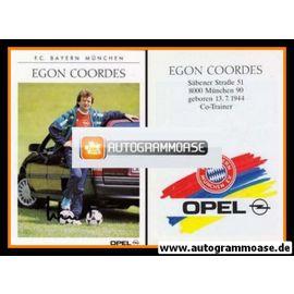 Autogramm Fussball | FC Bayern München | 1989 | Egon COORDES