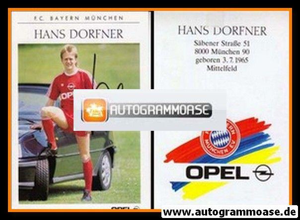 Autogramm Fussball | FC Bayern München | 1989 | Hans DORFNER