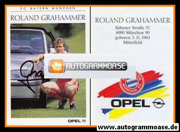 Autogramm Fussball | FC Bayern München | 1989 | Roland GRAHAMMER