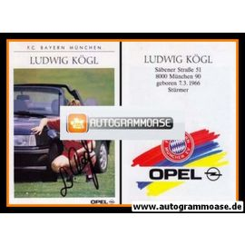 Autogramm Fussball | FC Bayern München | 1989 | Ludwig KÖGL