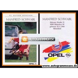 Autogramm Fussball   FC Bayern München   1989   Manfred SCHWABL