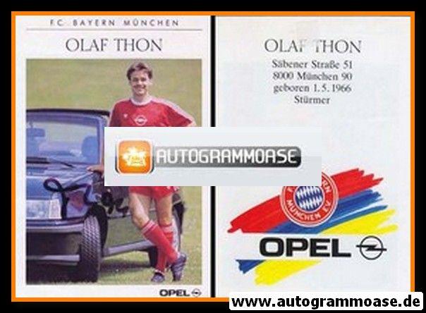 Autogramm Fussball | FC Bayern München | 1989 | Olaf THON
