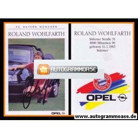 Autogramm Fussball | FC Bayern München | 1989 | Roland WOHLFARTH
