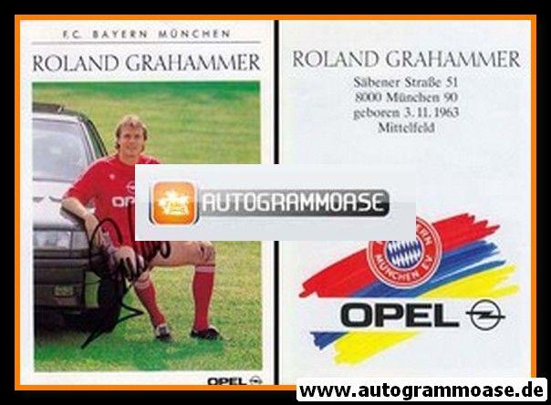 Autogramm Fussball | FC Bayern München | 1990 | Roland GRAHAMMER