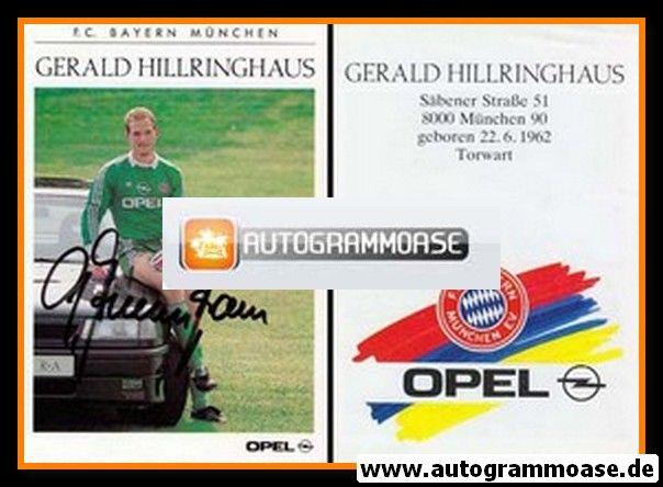 Autogramm Fussball | FC Bayern München | 1990 | Gerald HILLRINGHAUS
