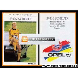 Autogramm Fussball   FC Bayern München   1990   Sven SCHEUER