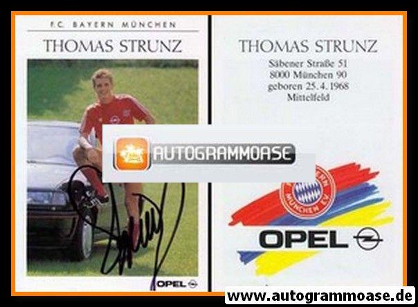 Autogramm Fussball | FC Bayern München | 1990 | Thomas STRUNZ