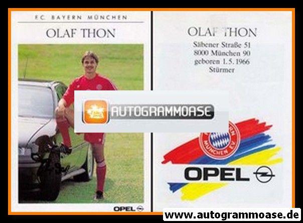 Autogramm Fussball | FC Bayern München | 1990 | Olaf THON