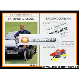 Autogramm Fussball | FC Bayern München | 1991 | Raimond AUMANN