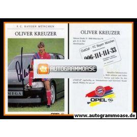 Autogramm Fussball | FC Bayern München | 1991 | Oliver KREUZER