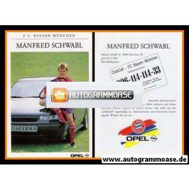 Autogramm Fussball   FC Bayern München   1991   Manfred SCHWABL