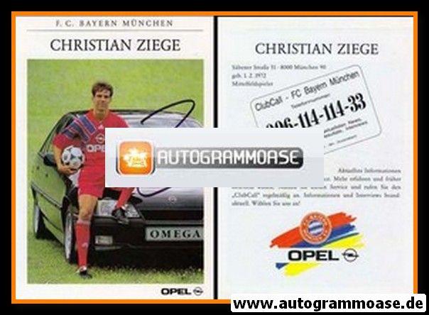 Autogramm Fussball | FC Bayern München | 1991 | Christian ZIEGE