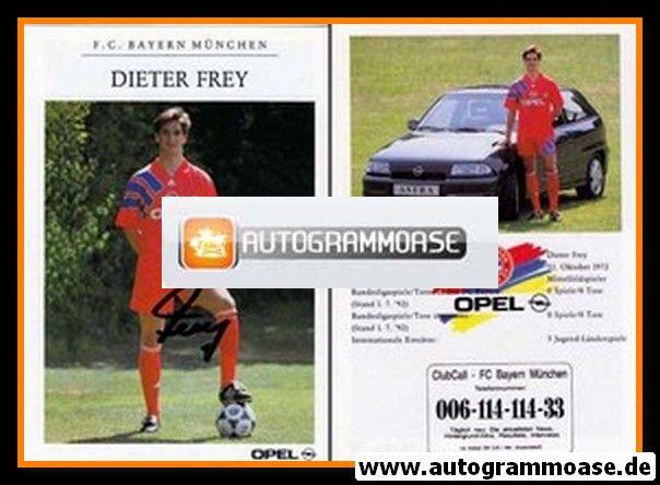 Autogramm Fussball | FC Bayern München | 1992 | Dieter FREY
