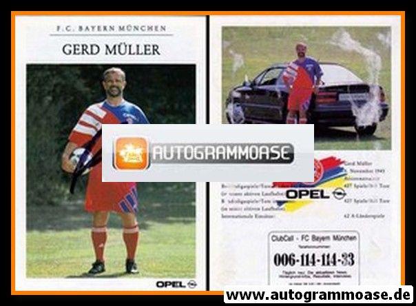 Autogramm Fussball | FC Bayern München | 1992 | Gerd MÜLLER