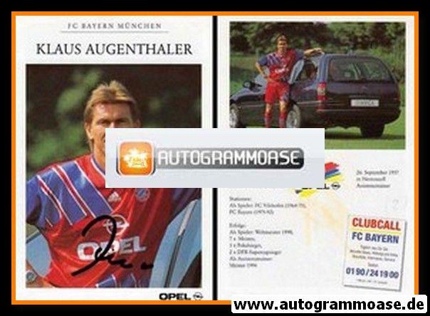 Autogramm Fussball | FC Bayern München | 1994 | Klaus AUGENTHALER