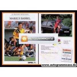 Autogramm Fussball   FC Bayern München   1994   Markus BABBEL (gelbes Trikot)