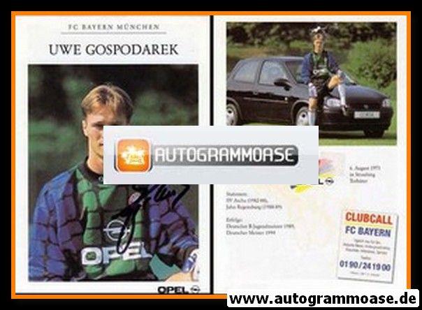Autogramm Fussball | FC Bayern München | 1994 | Uwe GOSPODAREK