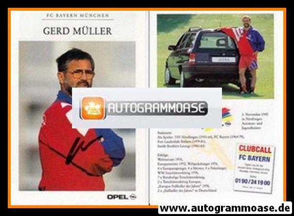 Autogramm Fussball | FC Bayern München | 1994 | Gerd MÜLLER
