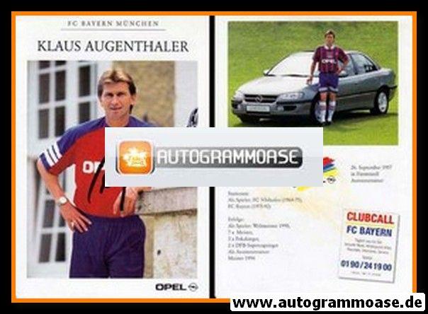 Autogramm Fussball | FC Bayern München | 1995 | Klaus AUGENTHALER