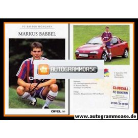 Autogramm Fussball   FC Bayern München   1995   Markus BABBEL