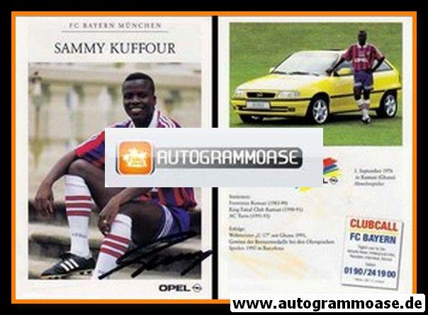 Autogramm Fussball | FC Bayern München | 1995 | Sammy KUFFOUR