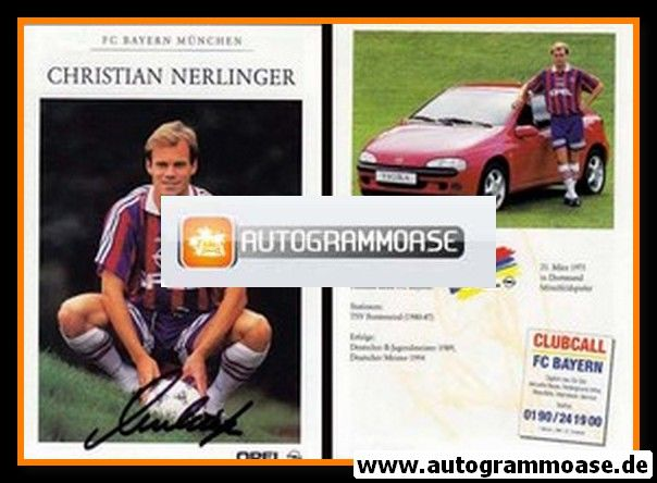 Autogramm Fussball   FC Bayern München   1995   Christian NERLINGER