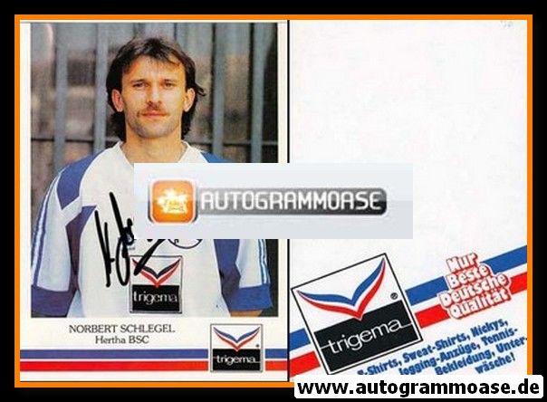 Autogramm Fussball | Hertha BSC Berlin | 1991 | Norbert SCHLEGEL